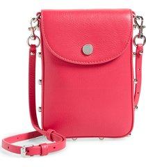 rebecca minkoff envelope leather phone crossbody bag - pink