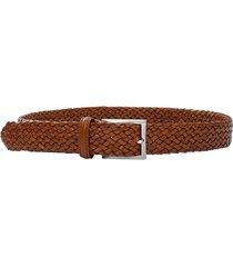 leather tubular braided belt