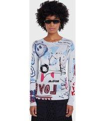 sweater desigual multicolor - calce regular