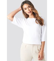 na-kd basic oversized viscose tee - white