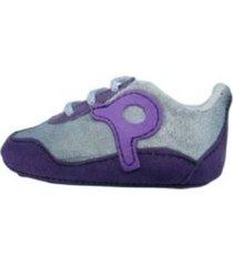 zapatilla gris violeta piojito