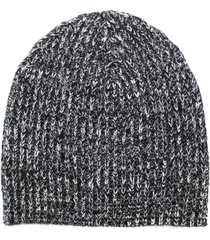 cashmere in love melange knitted beanie - grey