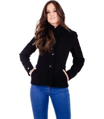casaco rigotto classic em lã natural preto