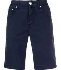 jacob cohen straight-leg chino shorts - blue
