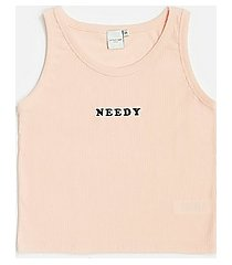 *pink needy ribber vest by skinnydip - pink