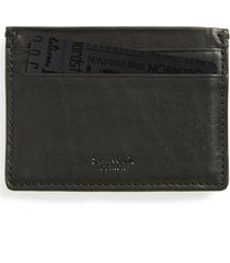 shinola leather card case in black at nordstrom