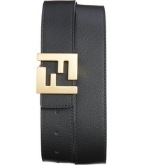 men's fendi ff reversible leather logo belt