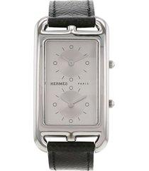 hermès 2000s pre-owned cape cod nantucket wrist watch - silver