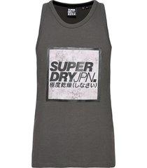 jpn tie dye block vest t-shirts sleeveless grå superdry