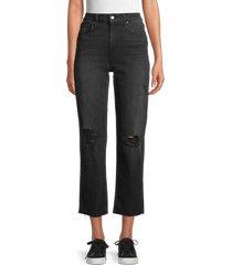 joe's jeans women's high-rise distressed straight leg jeans - vienne - size 30 (8-10)