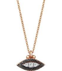 10th eye haven white diamond necklace