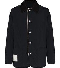 maison margiela recycled zip-front shell jacket - black