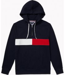 tommy hilfiger adaptive men's iconic re-issue hoodie with extended zipper pull