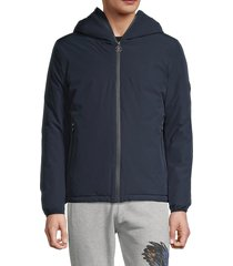 roberto cavalli men's hooded winter jacket - blue - size xxxl