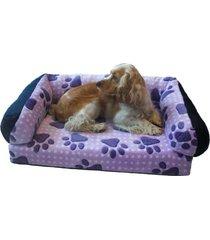 cama sofa para perro raza mediana morado