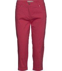 capri pants byxa med raka ben röd brandtex