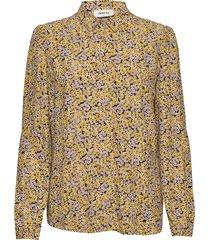 ella print shirt blouse lange mouwen geel modström
