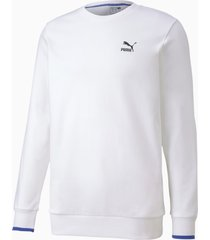 herensweater met lange mouwen, wit, maat m | puma