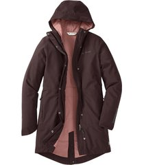 dames functionele parka cyclist padded met capuchon, aubergine 42