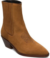 tyler elastic suede shoes boots ankle boots ankle boots with heel brun zadig & voltaire