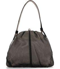 dolce & gabbana pre-owned sheer-panelled tote bag - black