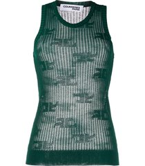 courrèges crocheted sleeveless top - green