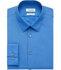 calvin klein blue extreme slim fit dress shirt
