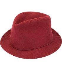 hermès pre-owned homburg hat - red
