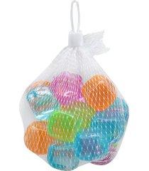 cubo para gelo le artificial em plástico colorido 20 peças