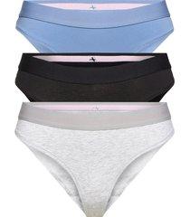 organic cotton thong 3-pack stringtrosa underkläder multi/mönstrad danish endurance