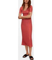 mango women's knit midi dress