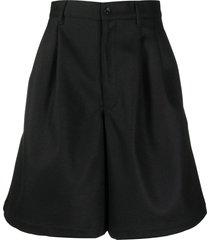 comme des garçons shirt high-waisted bermuda shorts - black