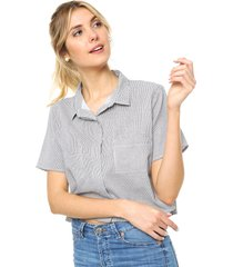 camisa gris donadonna camila