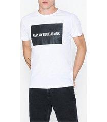replay t-shirt t-shirts & linnen vit