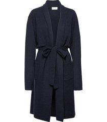 man robe morgonrock badrock blå davida cashmere