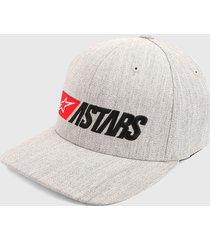 gorra gris-negro-rojo alpinestars indulgent