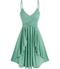 spaghetti strap casual overlay dress