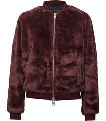 a.j fur outerwear faux fur rood brixtol textiles