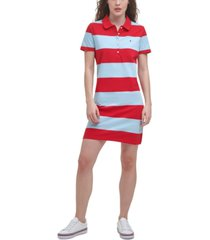 tommy hilfiger rugby-stripe polo dress