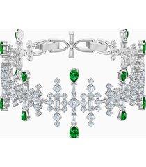 braccialetto perfection, verde, placcatura rodio