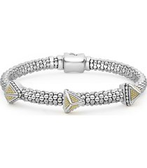 lagos ksl three pyramid station rope bracelet, size 6 in in silver at nordstrom