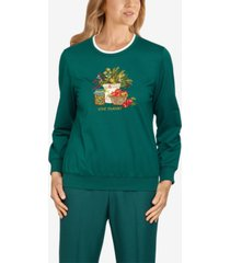petite classics give thanks pullover top