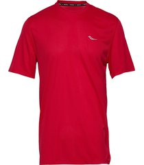 stopwatch short sleeve t-shirts short-sleeved röd saucony