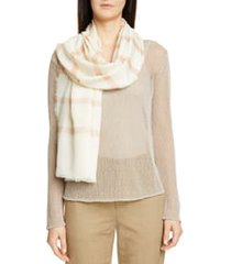 max mara striped cashmere wrap scarf in powder at nordstrom