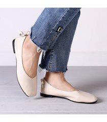 casual scarpe basse morbide con nodo a farfalla