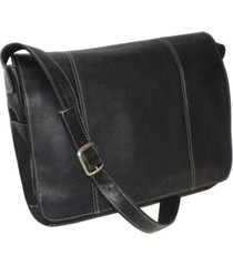 """royce 13"""" laptop messenger bag in colombian genuine leather"""