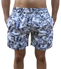 bermuda short dólar moda praia relaxado estampado