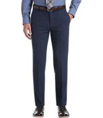 awearness kenneth cole awear-tech blue slim fit dress pants