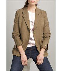 blazer mujer paño stretch militar vintage liola
