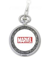 marvel spider-man men's silver alloy pocket watch